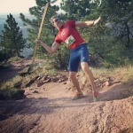 "In Boulder fashion, I made that ""javelin"" from recycled wood."