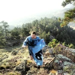 Perhaps the fastest summit ever of Sanitas in a Snuggie.