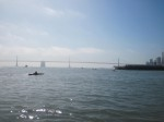 The Bay Bridge is getting closer.