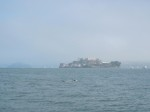 Someone (not me) swimming by Alcatraz.