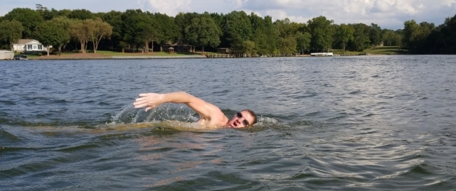 I estimate I turned my head like that 60,000 times during the swim. Ouch.